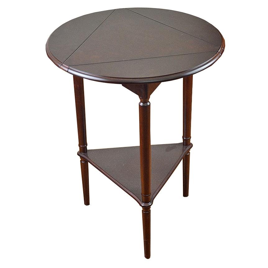 Corner Accent Table Elegant Finish Round Metal Accent