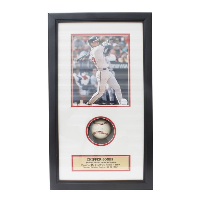 Limited Edition Chipper Jones Autographed Baseball and Photograph