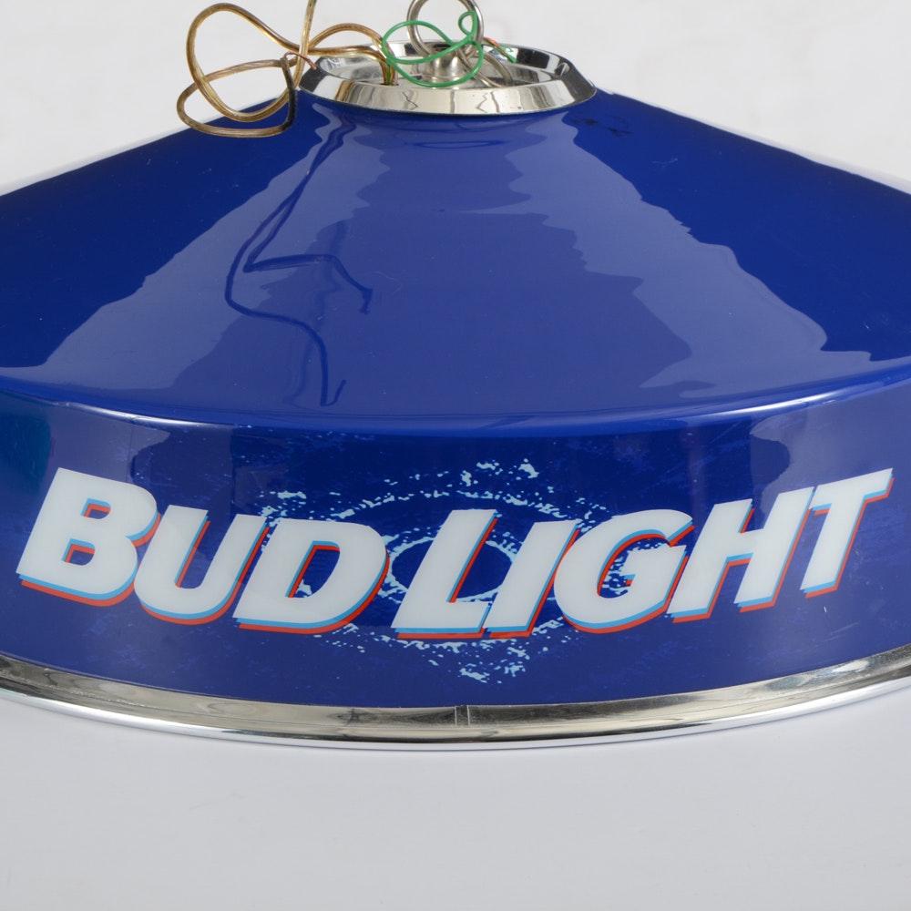 Budweiser Pool Table Light Plastic: Bud Light Game Table Ceiling Lamp : EBTH
