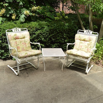 gray wrought iron patio chairs ebth