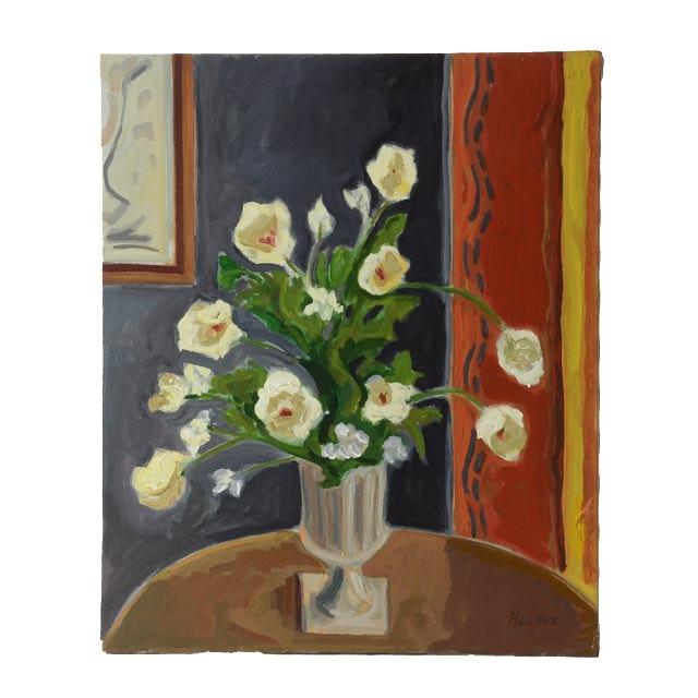 Roland Huston Original Acrylic on Canvas Floral Still Life