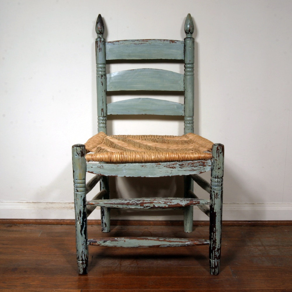 old wooden ladder back chairs antique ladder back wooden chair with distressed finish ebth 7165