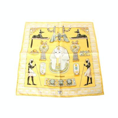 "Hermes ""Turankhamun"" 100% Silk scarf designed by Vladimir Rybaltchenko"