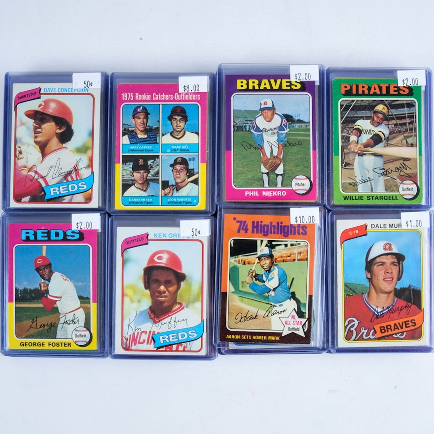 Over 100 Star Baseball Cards From The 1970s