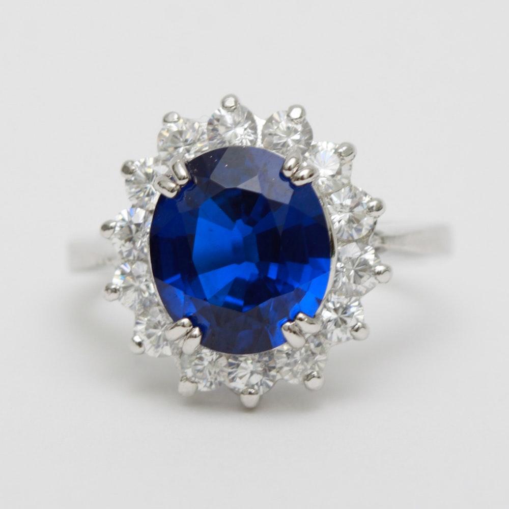 Sterling Silver Danbury Mint Princess Diana Ring Ebth
