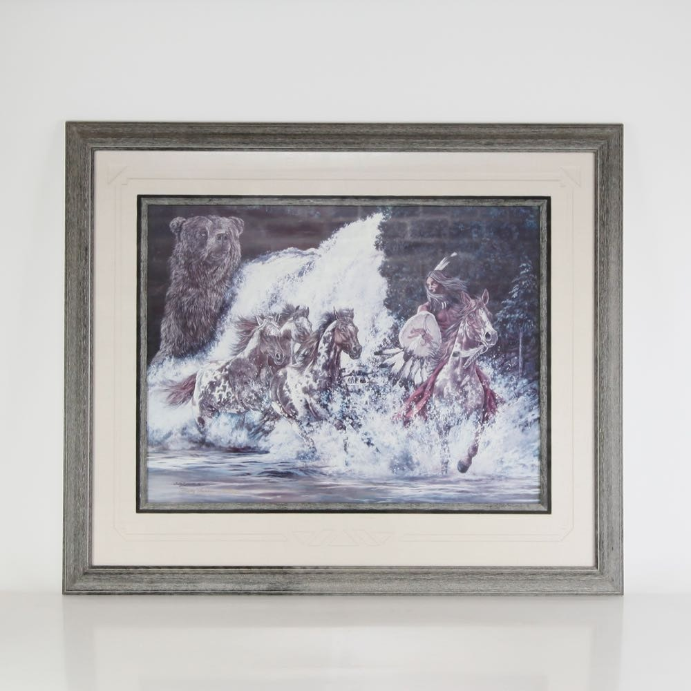 """Judy Larson Signed Print """"Spirits Of Grizzly Creek"""""""