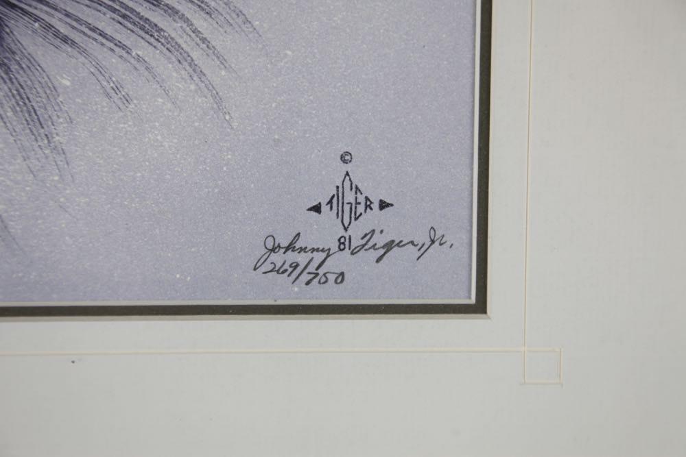 Johnny Tiger Jr Signed Print Quot Messenger For War Or Peace
