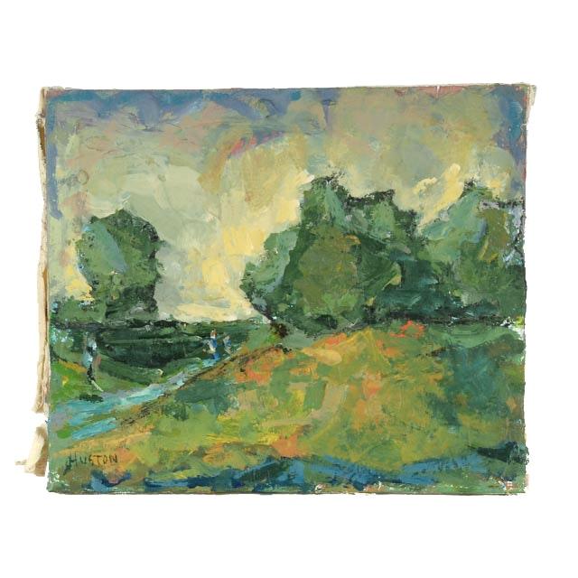Roland Huston Oil on Canvas Landscape