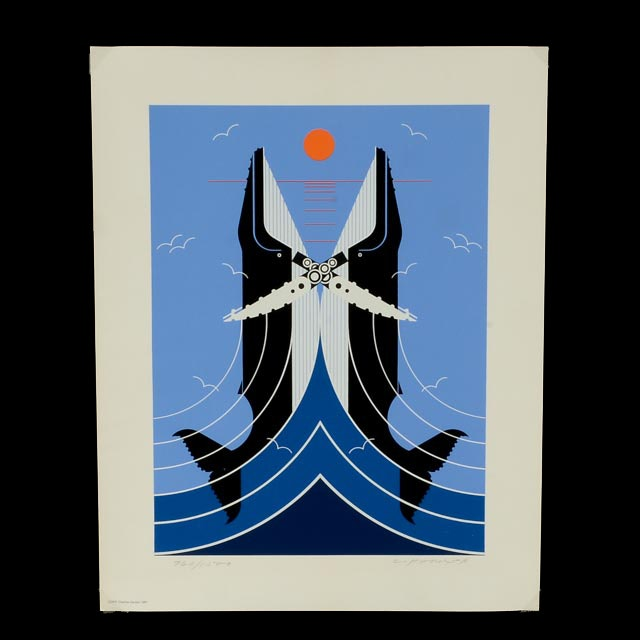 """Charley Harper Signed Limited Edition Serigraph """"Romance on the Richter Scale"""""""