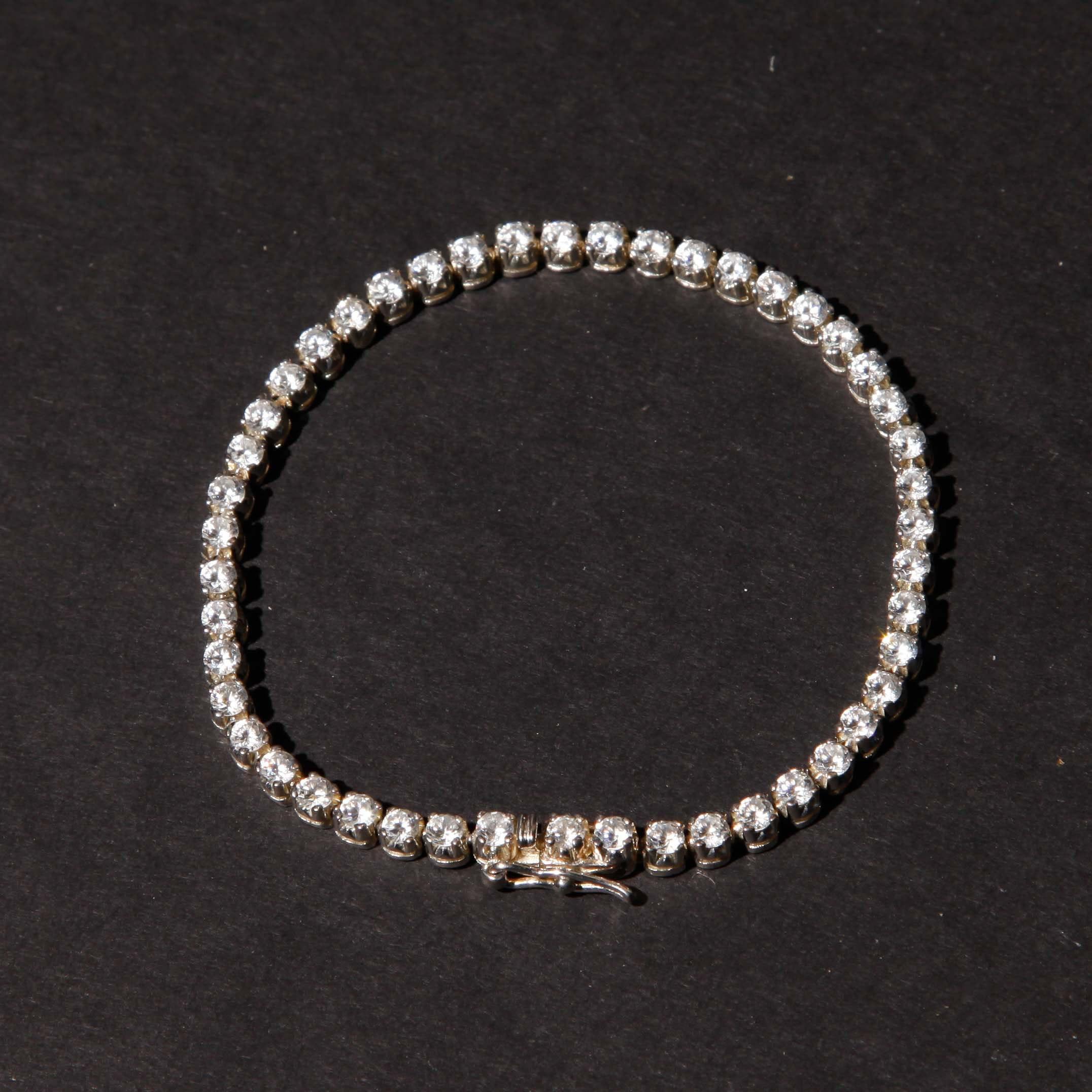 Sterling Tennis Bracelet
