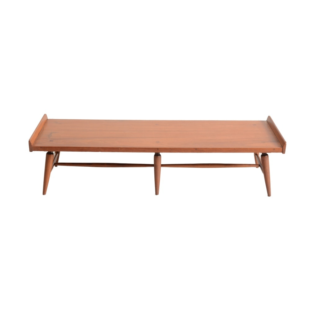 Mid Century Modern Willet Solid Cherry Bench Coffee Table