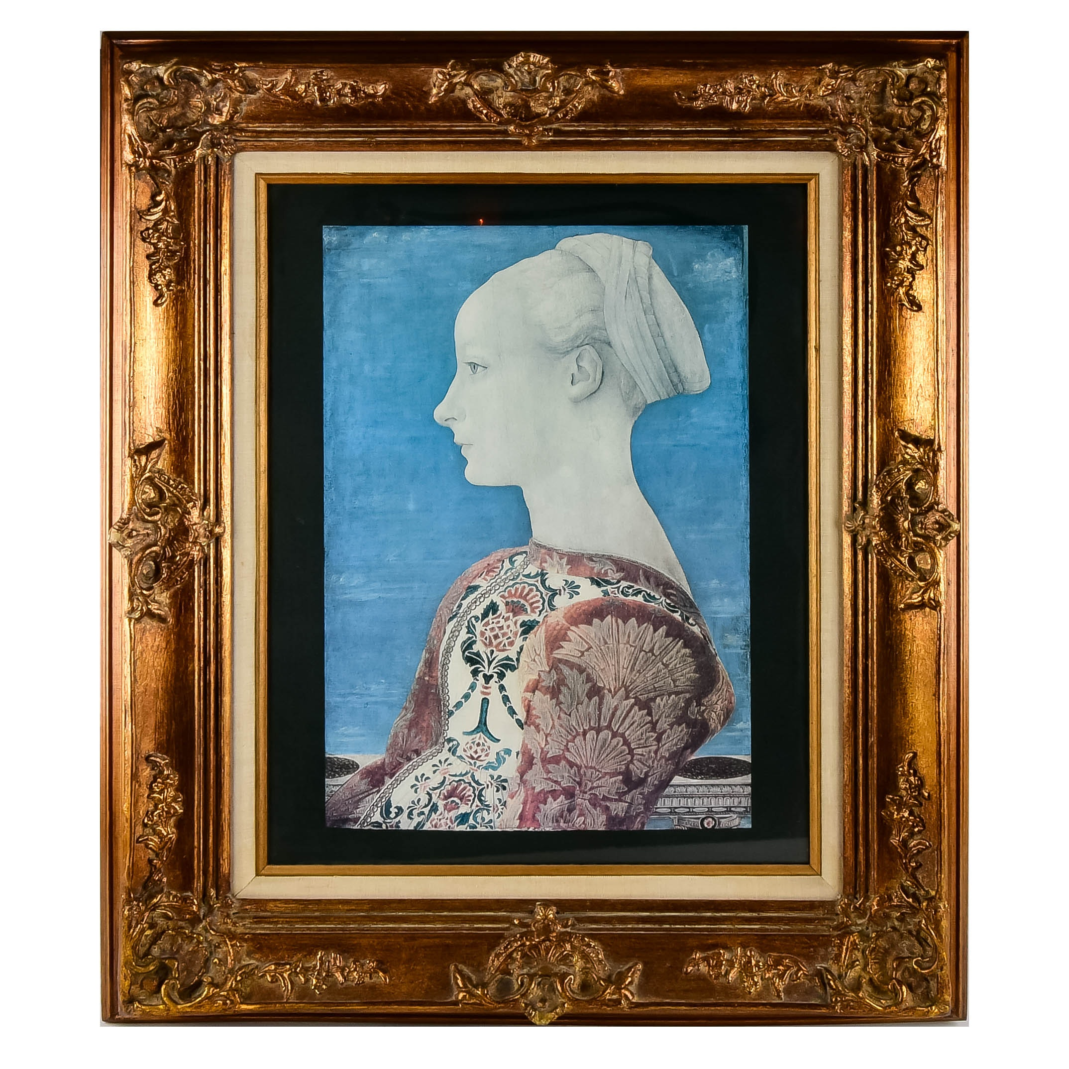 """""""Profile Portrait of a Young Lady"""" Framed Print"""