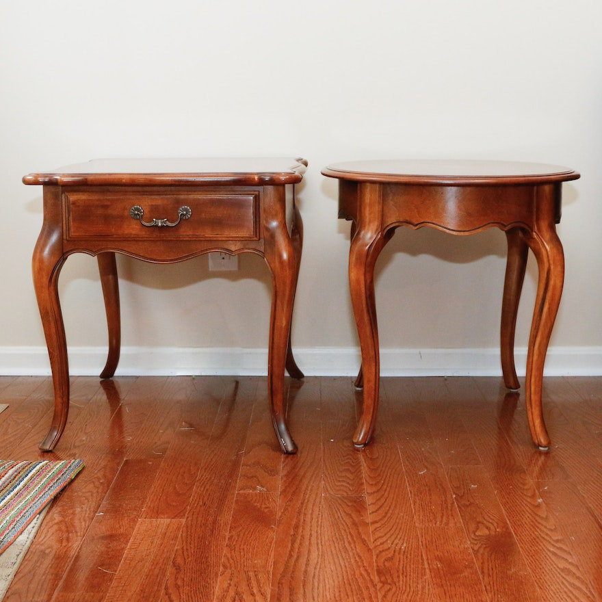 "Ethan Allen New Country Coffee Table: Pair Of Ethan Allen ""Country French"" End Tables"