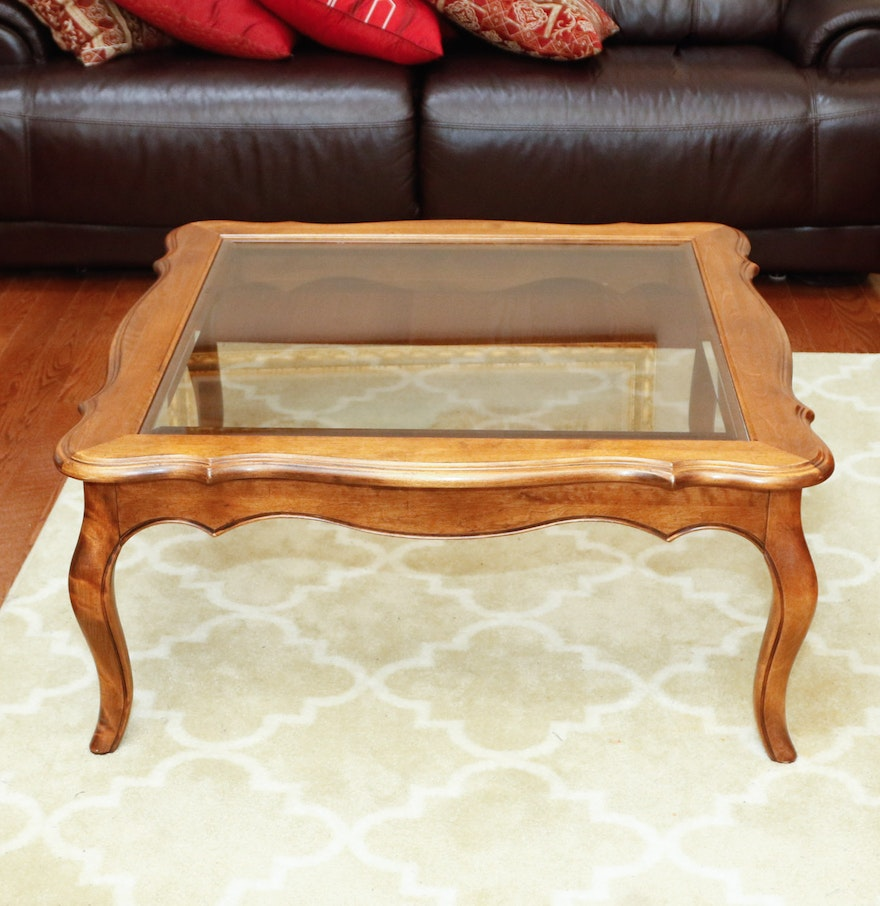 "Traditional Coffee Tables Ethan Allen: Ethan Allen ""Country French"" Coffee Table : EBTH"