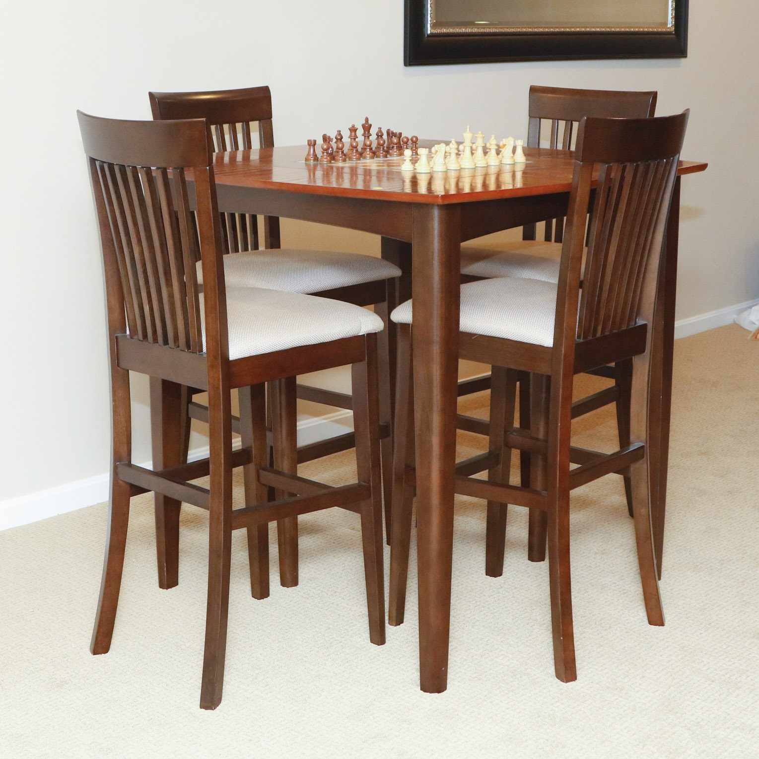 Bon High Top Game Table And Four Chairs ...
