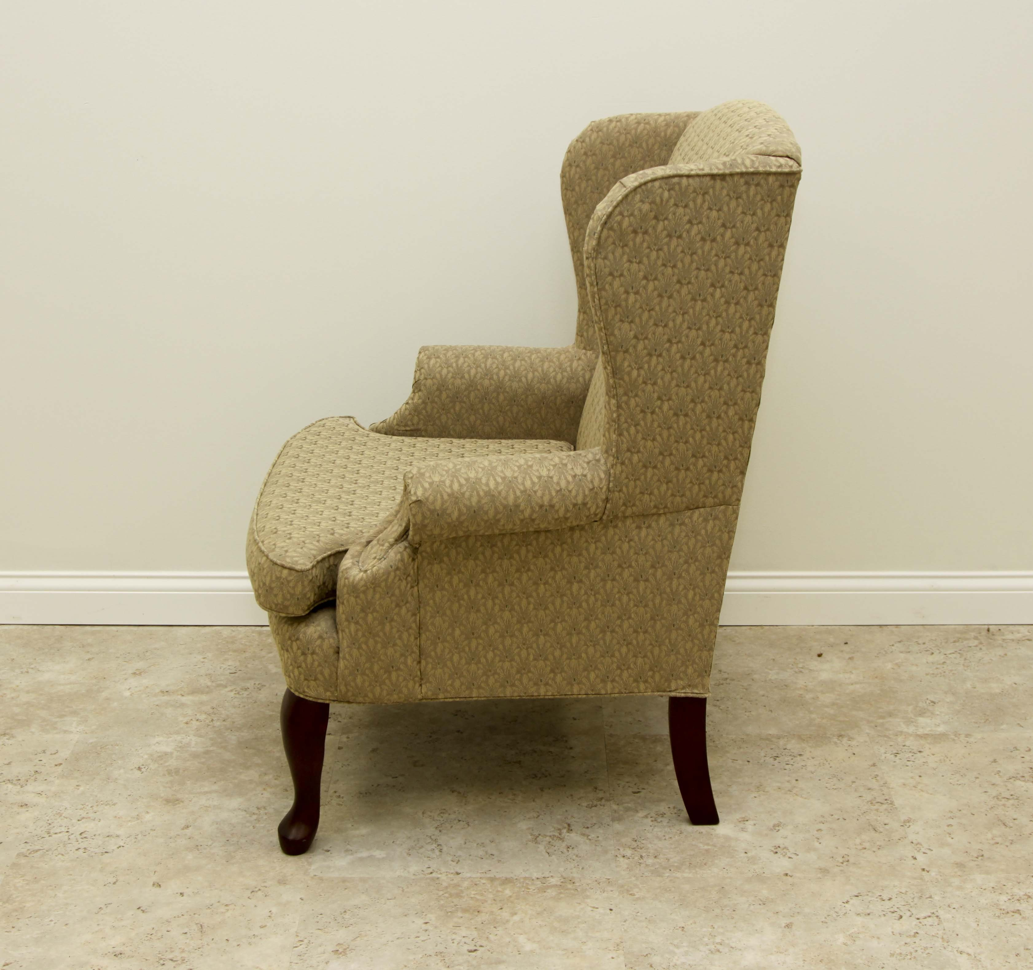 Havertys Queen Anne Style Wingback Chair EBTH