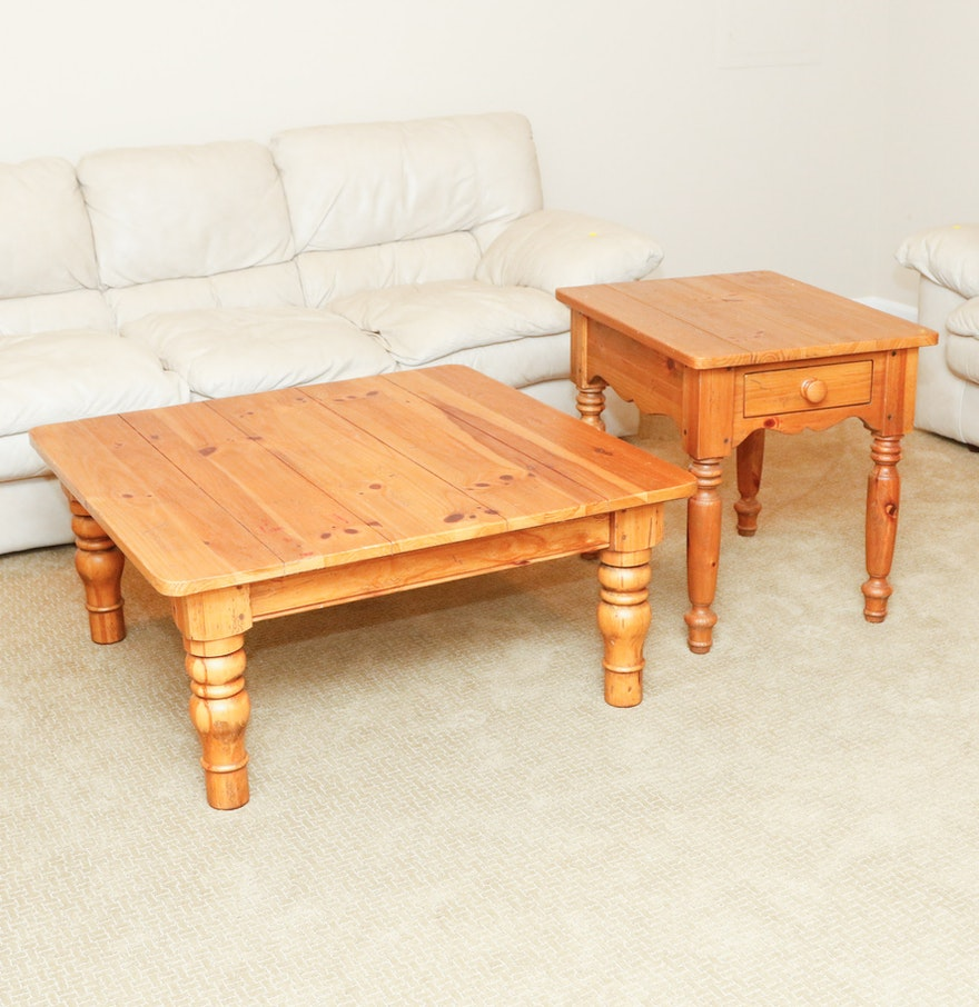 Traditional Coffee Tables Ethan Allen: Ethan Allen Coffee And End Table Set : EBTH