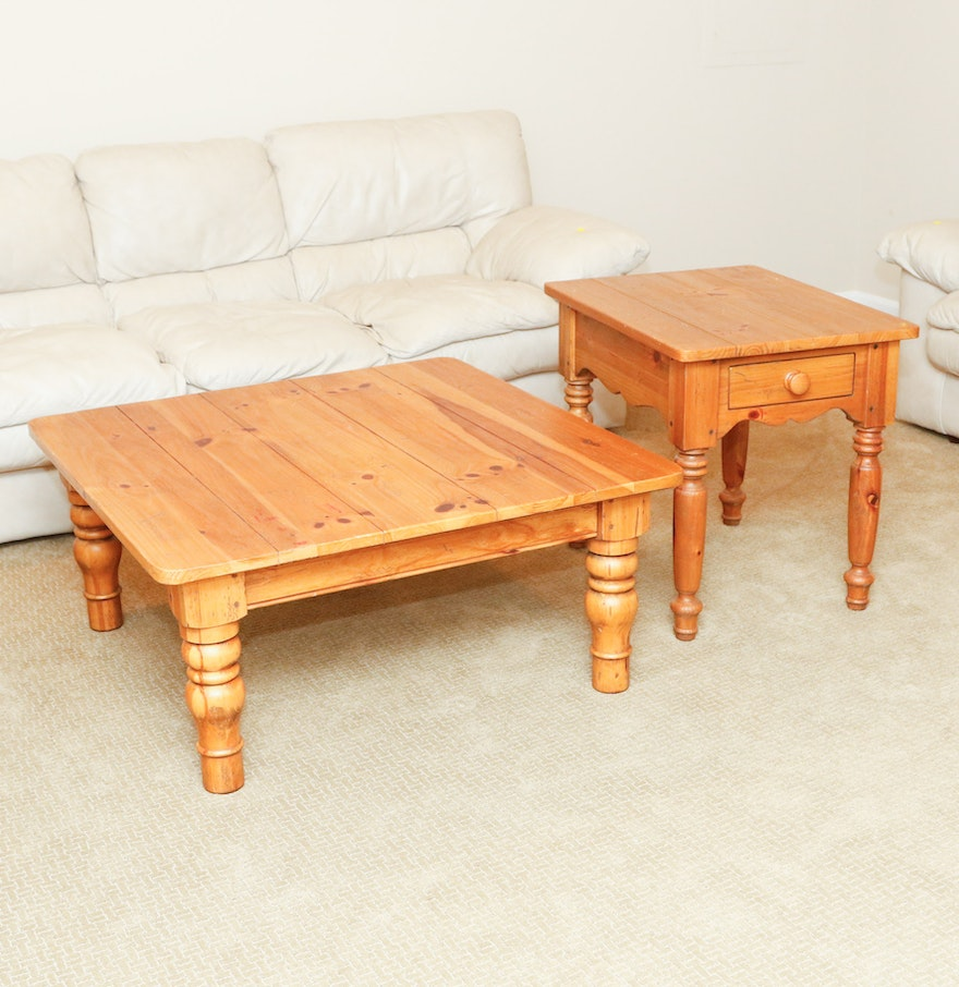 Ethan Allen Tuscan Coffee Table: Ethan Allen Coffee And End Table Set : EBTH