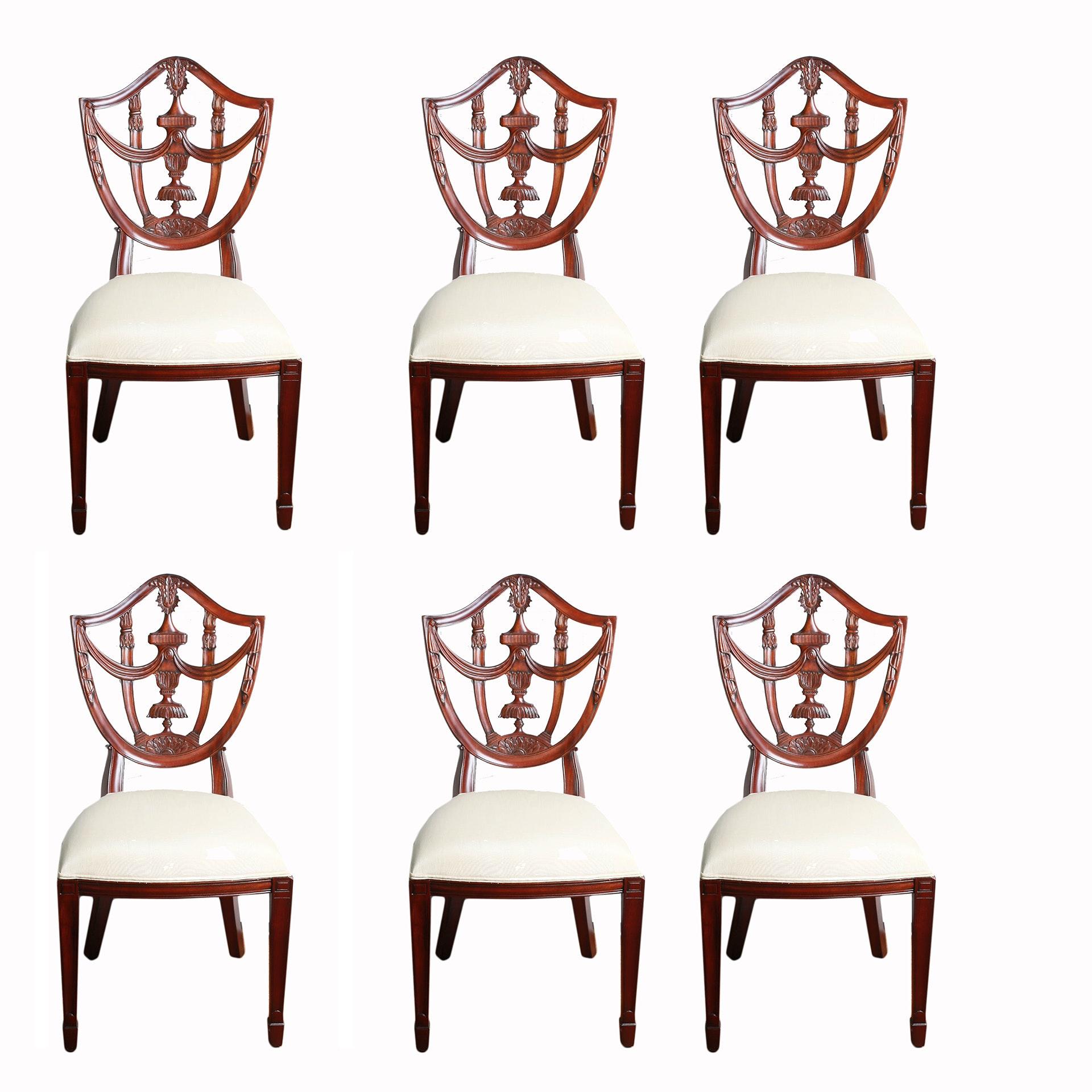 Six Maitland-Smith Hepplewhite Side Chairs