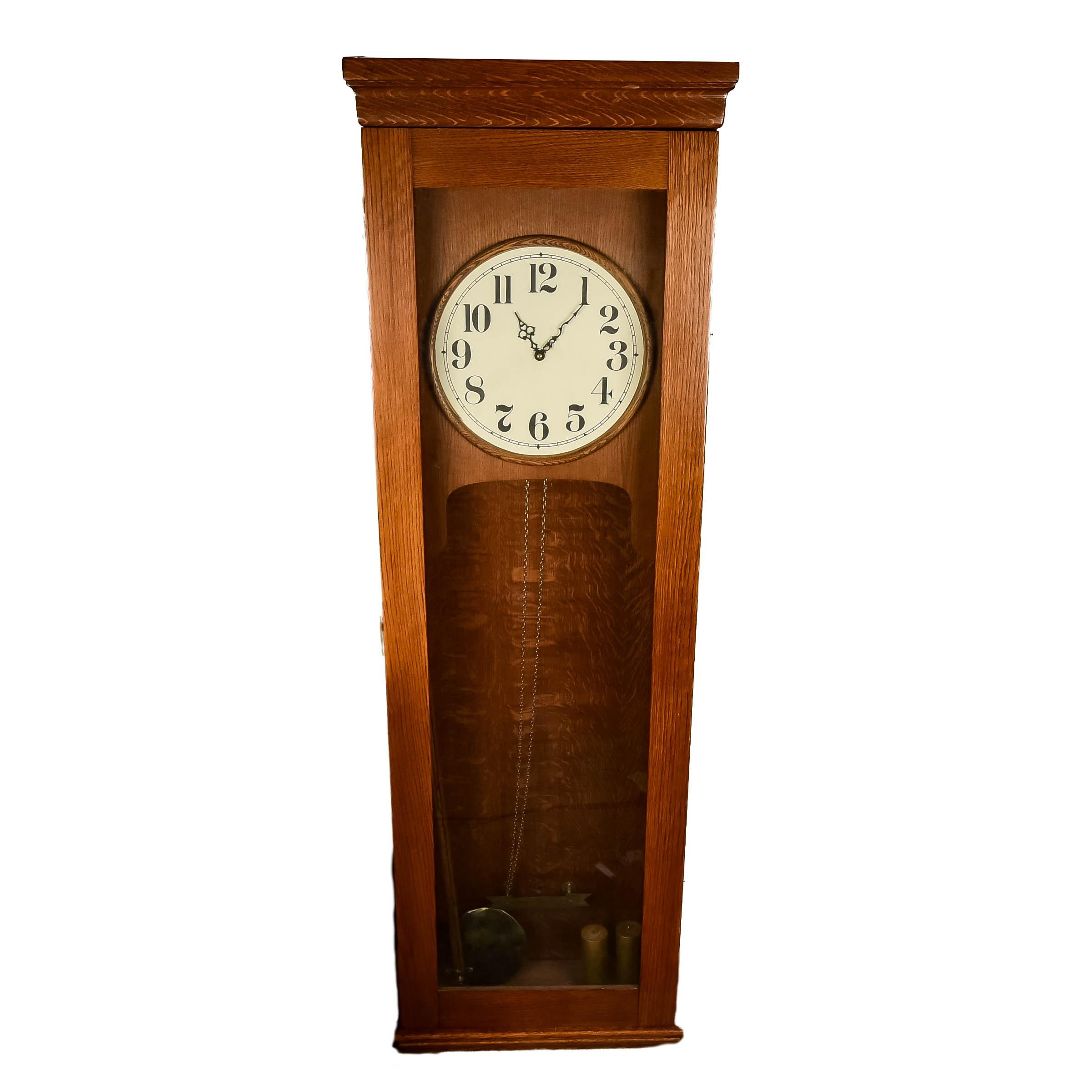 Mission Style Oak Grandmother Clock