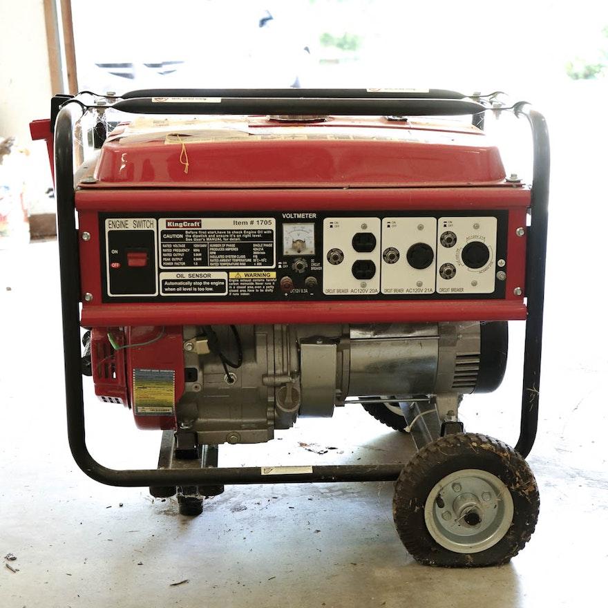 King Craft 1705 6KW Generator : EBTH