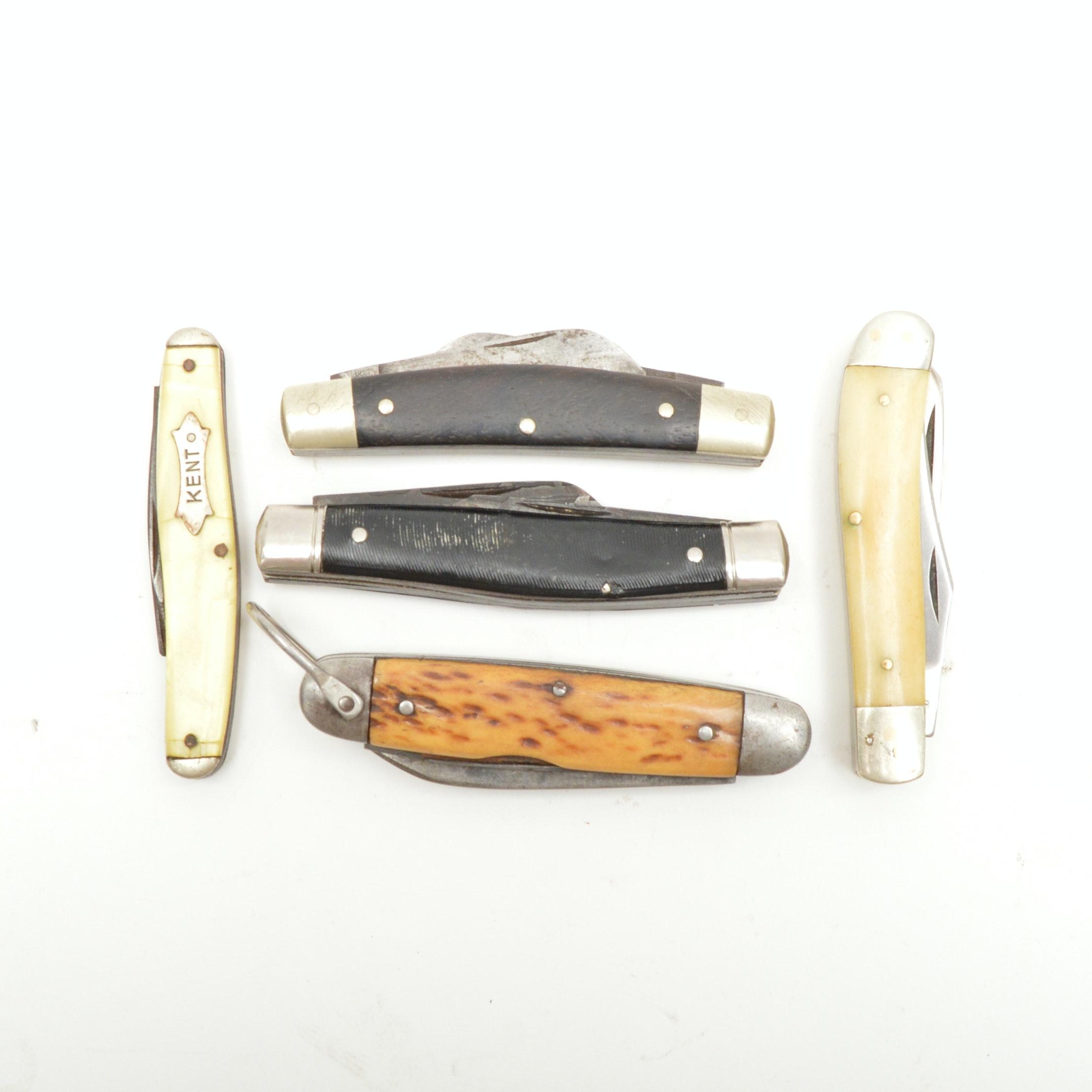 Vintage Pocket Knives Including Boker