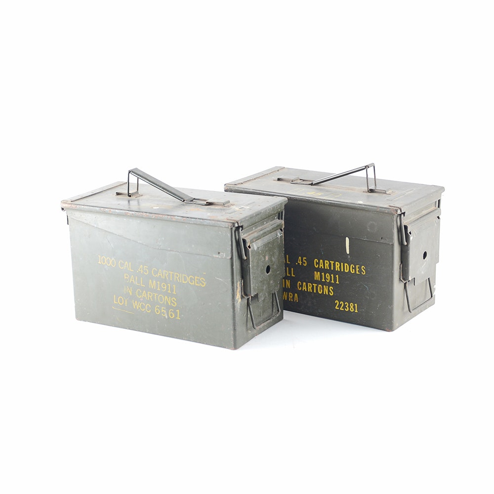 Vintage .45 Caliber Ammo Boxes