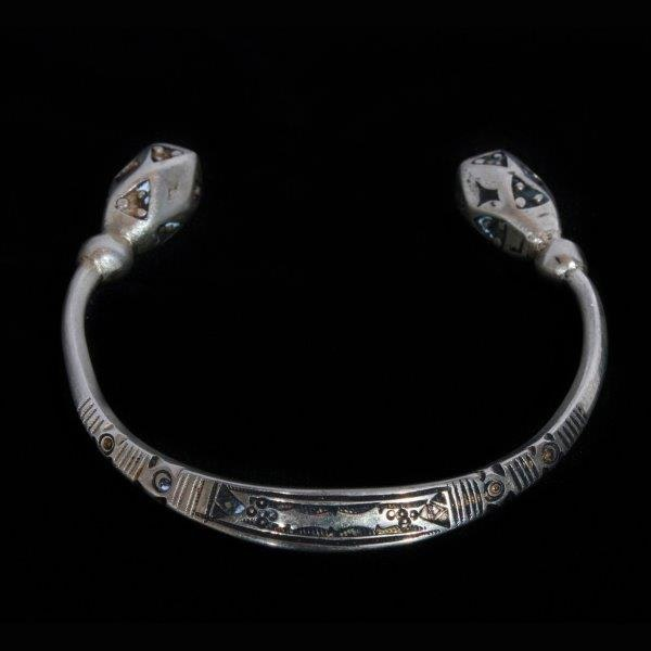 Silver Tone Open Cuff Bracelet