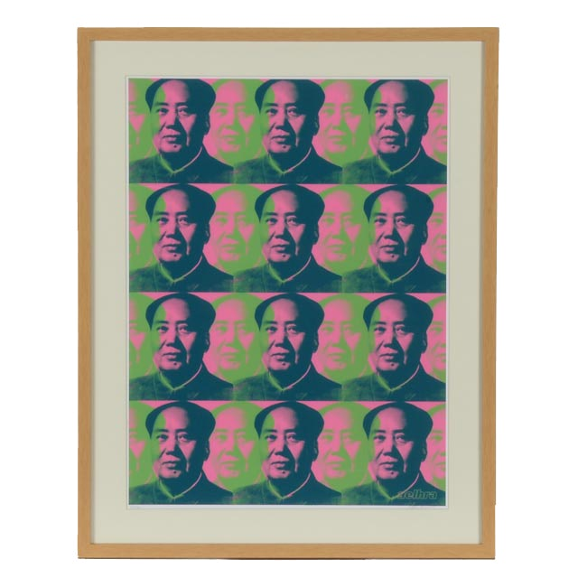 "Aelhra Limited Edition Signed and Numbered Serigraph ""Many Mao 2"""