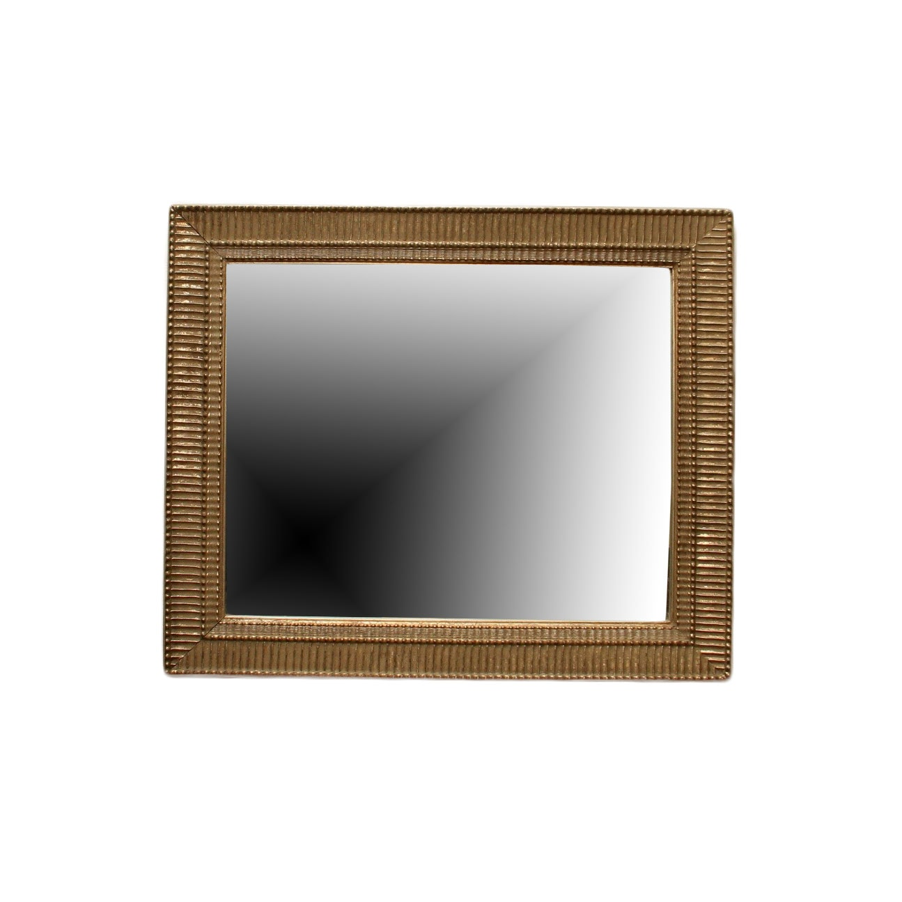 Gold Toned Wood Framed Mirror