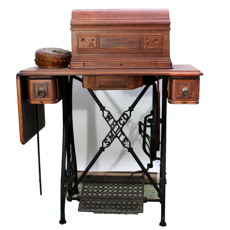 white treadle sewing machine for sale
