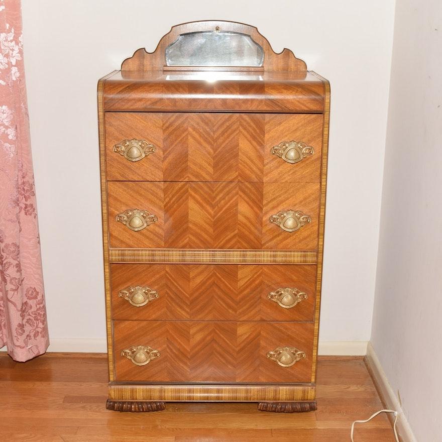 Webb Furniture Dresser With Mirror: Vintage Webb Furniture Art Deco Style Dresser : EBTH