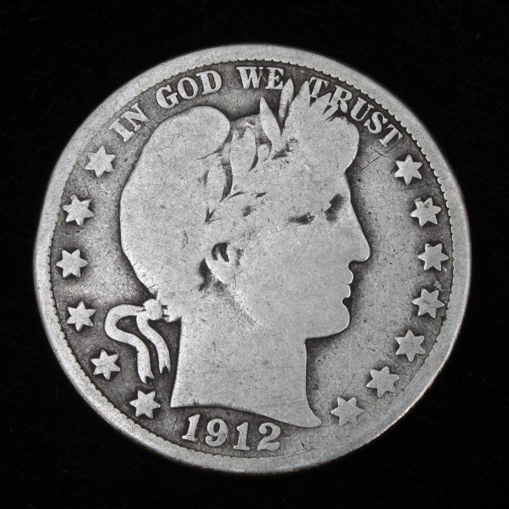 1912-D Barber Half Dollar