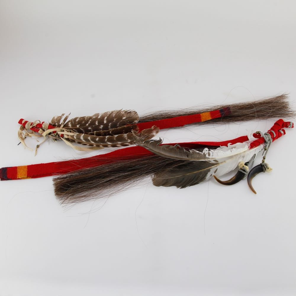 Bear Claws On Horse Hair and Feathers