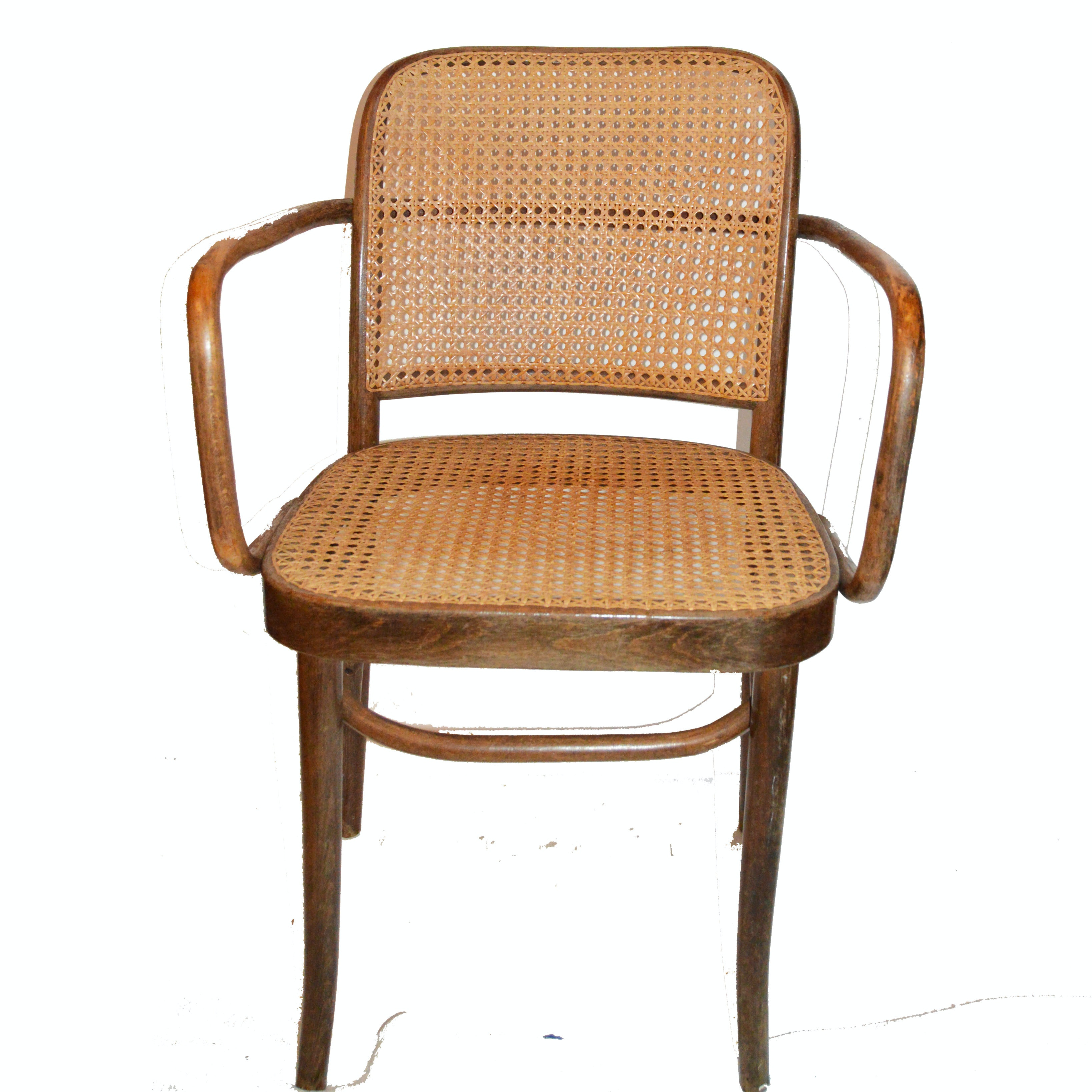 Elegant Mid Century Thonet Style Bentwood Cane Chair ...