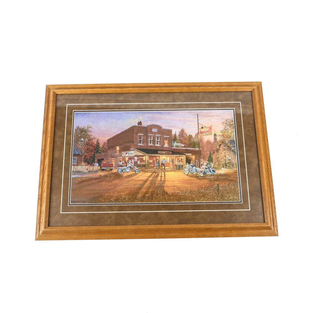 Framed Dave Barnhouse Quot Ready To Ride Quot Print Ebth