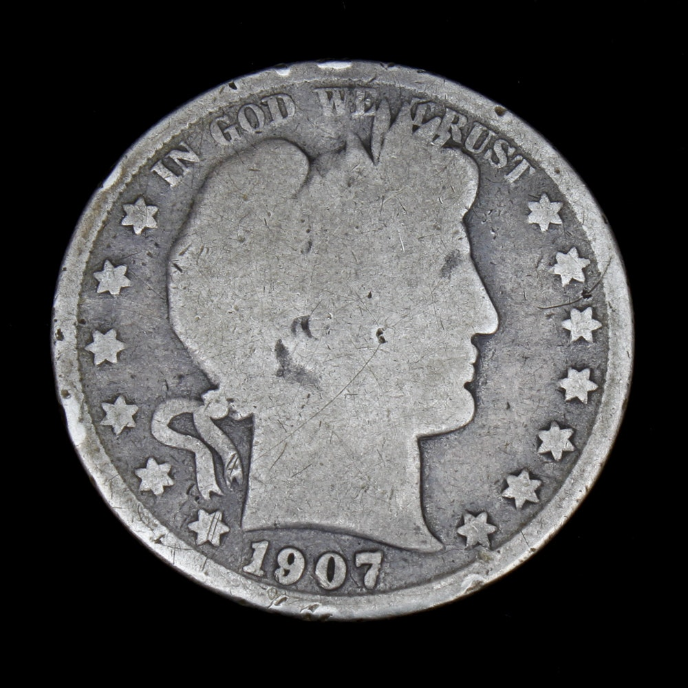 1907s Barber Half Dollar