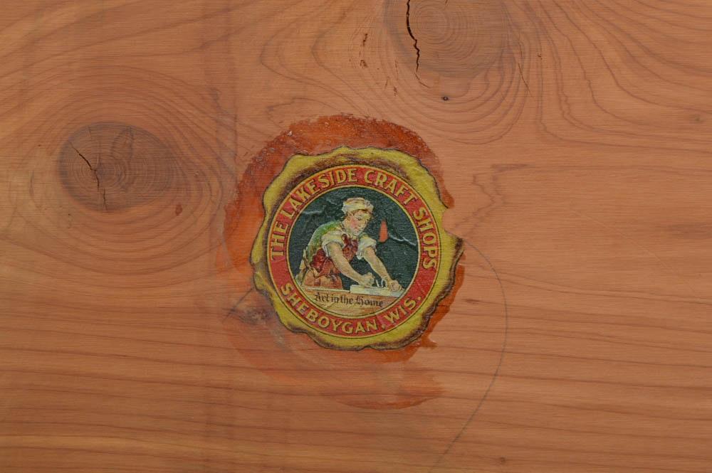 Lakeside Craft Shop Pine Chest With Cedar Lining Ebth