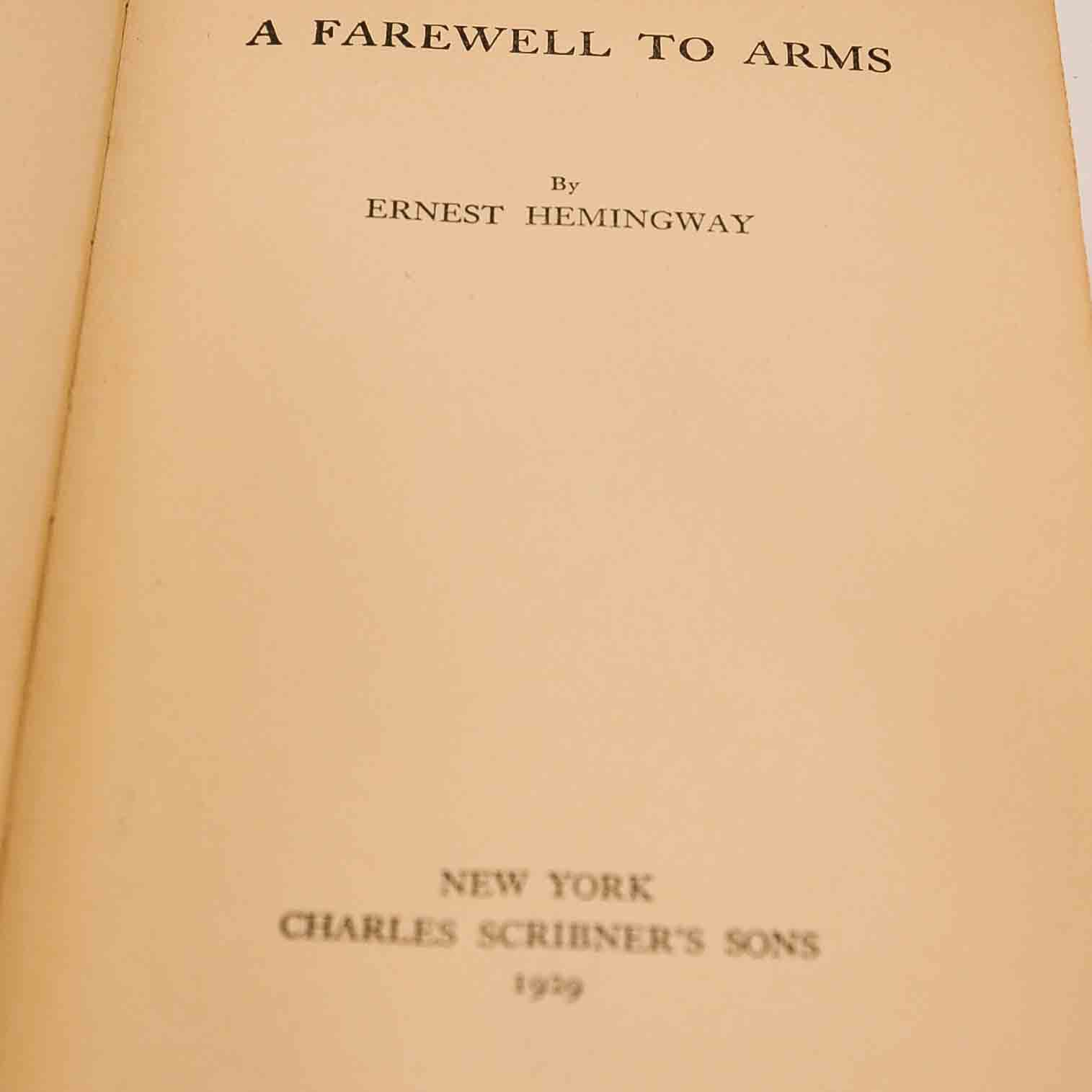 an overview of the book a farewell to arms by ernest hemingway Summary recently viewed  a farewell to arms by ernest hemingway ( e book ) $150  a farewell to arms ernest hemingway franklin library american literature.