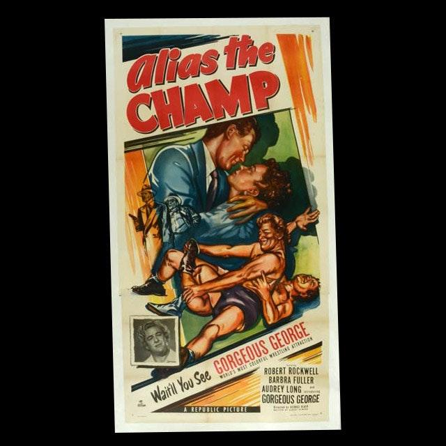 "Original Vintage 1949 Movie Poster ""Alias the Champ"""