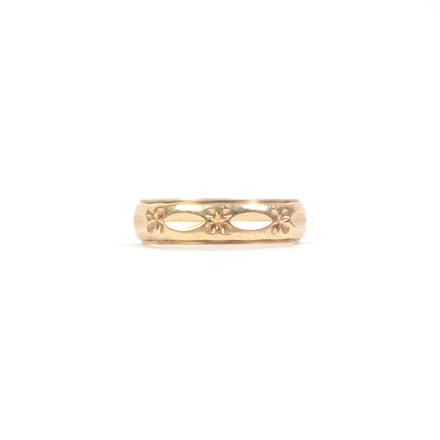 14 K Pressed Gold Band