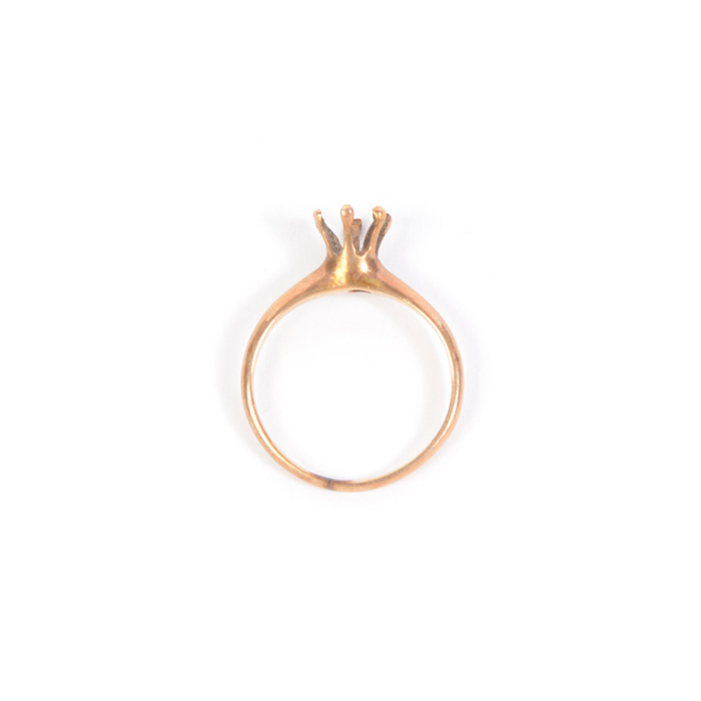 14 K Gold Ring Setting
