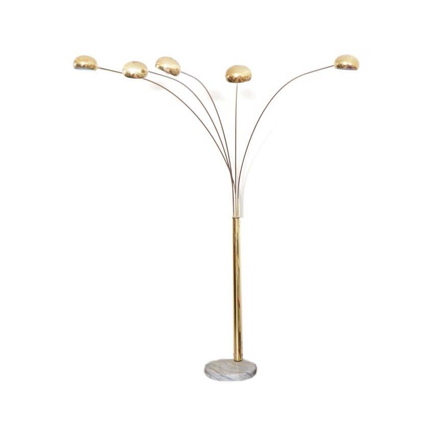 Vintage Five Arm Floor Lamp