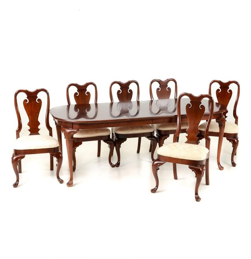 Pennsylvania classics inc mahogany dining room table with for Mahogany dining room chairs