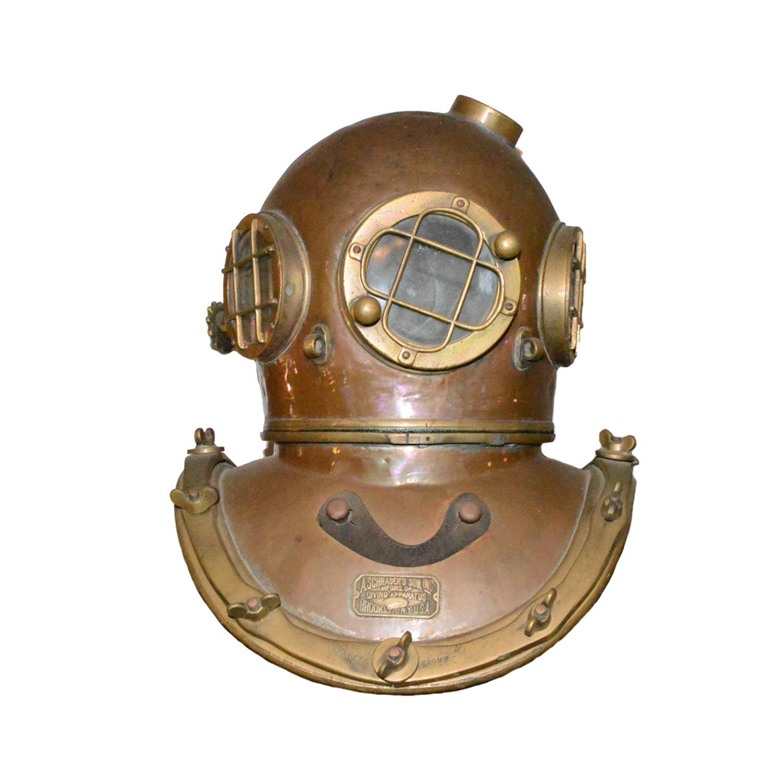 Vintage A Schrader & Sons Diver's Helmet