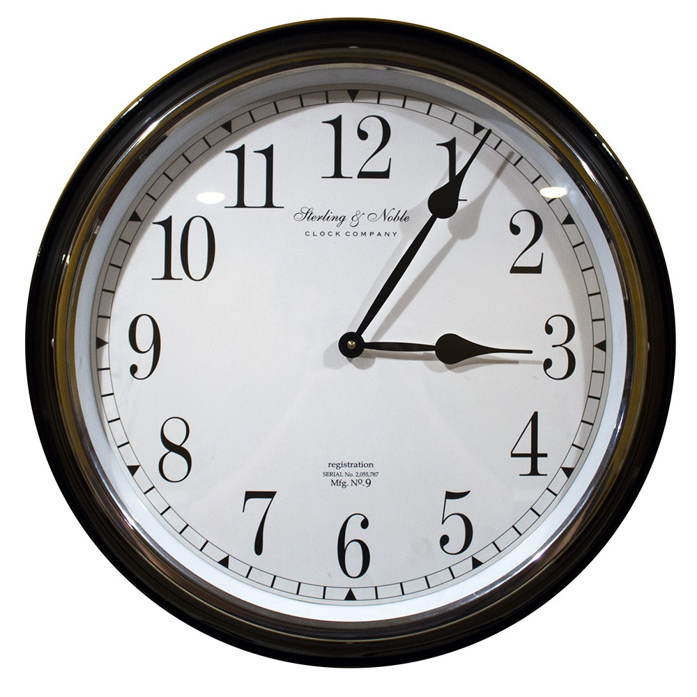 Sterling u0026 Noble Wall Clock Sterling