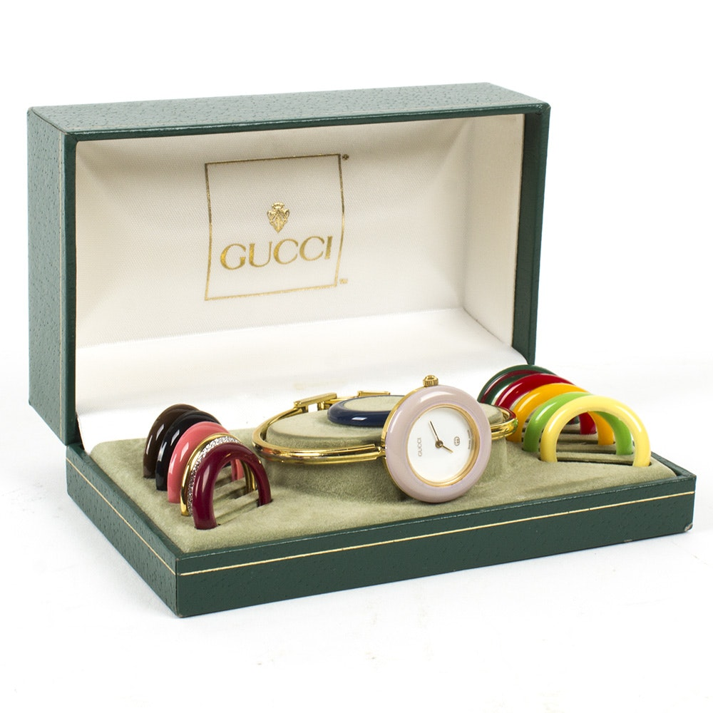 Gucci Wristwatch and Interchangeable Bezels