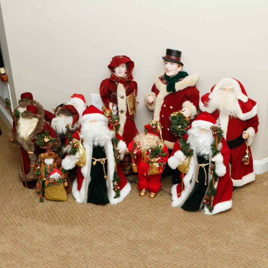 nine st nicks and a pair of christmas carollers - Christmas Carollers