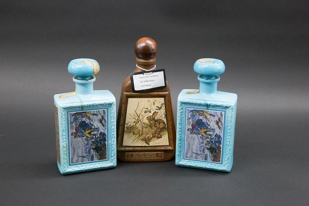 Set of Vintage Liquor Bottles