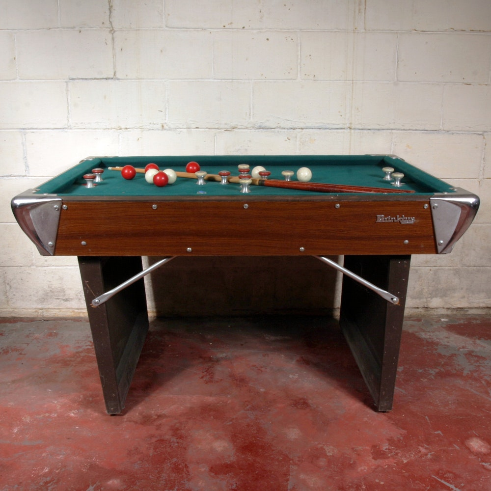 Vintage brinktun collapsible bumper pool table ebth - Bumper pool bumpers ...